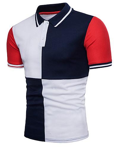 Polo Muškarci Rad Color block Kragna košulje / Kratkih rukava