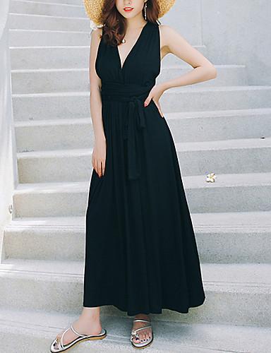 Žene Korice Haljina V izrez Maxi