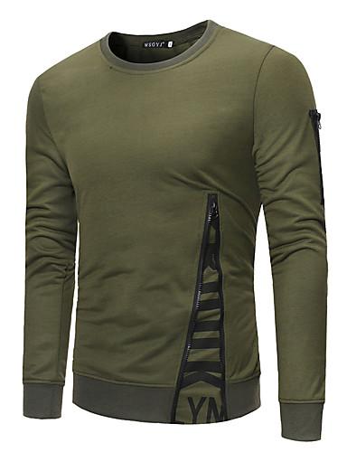 Veći konfekcijski brojevi Majica s rukavima Muškarci - Osnovni / Ulični šik Dnevno / Rad Jednobojni / Color block Okrugli izrez Kolaž / Dugih rukava