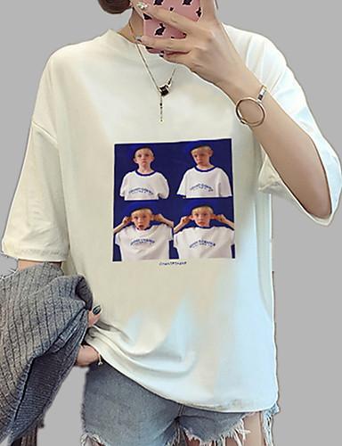 Majica s rukavima Žene Dnevno Jednobojni / Slovo / Portret Širok kroj, Print