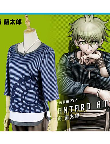 """billige Anime cosplay-Inspirert av Dangan Ronpa Amami Rantarou Anime  """"Cosplay-kostymer"""" Cosplay Klær Stribe 1 Halskjede / Bukser / T-Trøye Til Dame"""