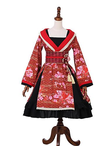 f5c5400178b Classic Lolita Dress Wa Lolita Dress Princess Lolita Female Dress Party  Costume Masquerade Japanese Traditional Kimono Cosplay Red Stitching Lace  Bell ...