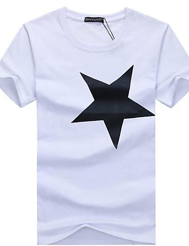 Hombre Camiseta, Escote Redondo Gráfico Negro XXXL / Manga Corta