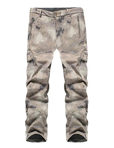 cheap Outdoor Clothing-Men's Camo Hiking Pants Softshell Pants Outdoor Waterproof Windproof Breathable Rain Waterproof Autumn / Fall Spring Winter Spandex Softshell Pants / Trousers Hunting Hiking Outdoor Exercise Grey