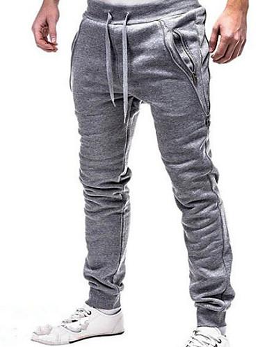 cheap 2/21-Men's Basic Sweatpants Pants - Solid Colored Black