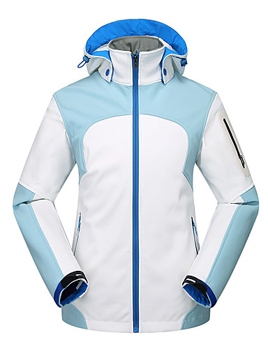 cheap Outdoor Clothing-Women's Hiking Softshell Jacket Hiking Windbreaker Outdoor Autumn / Fall Winter Waterproof Windproof Rain Waterproof Breathability Jacket Softshell Single Slider Camping / Hiking Ski / Snowboard
