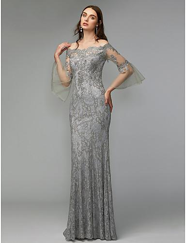 f9e40b929f82 play video. cheap Evening Dresses-Sheath / Column Off Shoulder Floor Length  Lace ...
