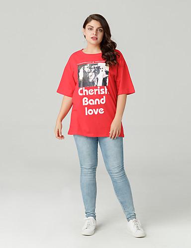 abordables Hauts pour Femmes-Tee-shirt Femme, Portrait Sortie