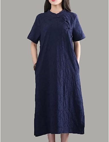 71867f166133 Γυναικεία Φαρδιά Τουνίκ Φόρεμα Μίντι Στρογγυλή Ψηλή Λαιμόκοψη 6914866 2019  –  33.59