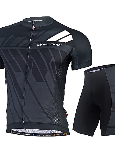 Nuckily Men s Cycling Jersey with Shorts - Black Blue Bike Clothing Suit  Quick Dry Ultraviolet Resistant UV Resistant Reflective Strips Back Pocket  Sports ... c8715d58a