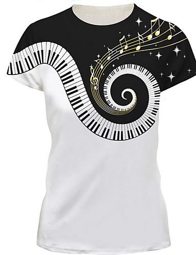 Rund hals Herre - Farveblok Basale T-shirt Hvid XL / Kortærmet