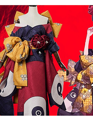 voordelige Cosplay & Kostuums-geinspireerd door Fate / Grand Order Katsushika Hokusai Anime Cosplaykostuums Cosplay Kostuums Bloem Boog / Kimono Jas / Hoofddeksels Voor Dames