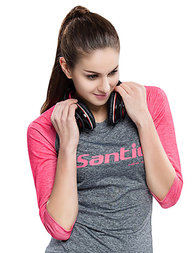 cheap Cycling Clothing-SANTIC Women's Cycling Jersey Bike Tee / T-shirt Jersey Top Breathable Ultraviolet Resistant UV Resistant Sports Pink Mountain Bike MTB Road Bike Cycling Clothing Apparel Advanced Relaxed Fit Bike