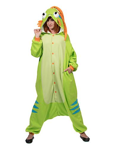 tanie Piżamy kigurumi-Dla dorosłych Piżama Kigurumi Murloc Piżama Onesie Polar Zielony Cosplay Dla Mężczyźni i kobiety Animal Piżamy Rysunek Festiwal/Święto Kostiumy