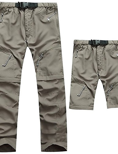 cheap Hiking Trousers & Shorts-Men's Solid Color Hiking Pants Convertible Pants / Zip Off Pants Outdoor UV Resistant Breathable Quick Dry Sweat-wicking Autumn / Fall Spring & Summer Pants / Trousers Bottoms Camping / Hiking