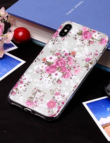 Θήκη Za Apple iPhone XS / iPhone XR / iPhone XS Max IMD / Translucent Stražnja maska Cvijet Mekano TPU