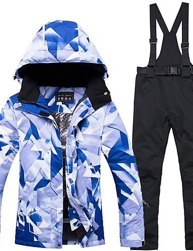 billige Ski og snowboard-ARCTIC QUEEN Dame Skijakke og bukser Vindtæt Varm Aftagelig Hat Ski Snowboarding Vintersport POLY Miljøvenlig Polyester Bukser Træningsdragt Toppe Skitøj