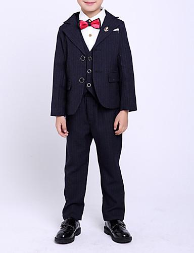 Djeca Dječaci Osnovni Prugasti uzorak Dugih rukava Pamuk Komplet odjeće Plava