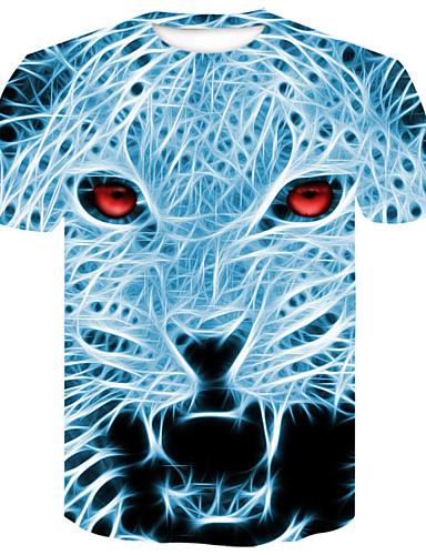 Ανδρικά T-shirt Κομψό στυλ street / Πανκ & Γκόθικ Συνδυασμός Χρωμάτων / Ζώο Στάμπα