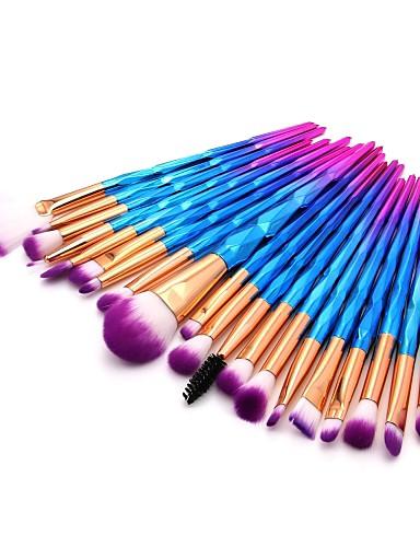 billige Skjønnhet og hår-20pcs Makeup børster Profesjonell Rougebørste / Øyenskyggebørste / Leppebørste Nylon Fiber Full Dekning