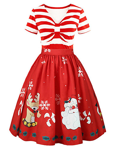 523a45738f61 Dress Christmas Dress Santa Clothes Adults' Women's Dresses Christmas  Christmas New Year Festival / Holiday Polyster Red Carnival Costumes  Christmas ...