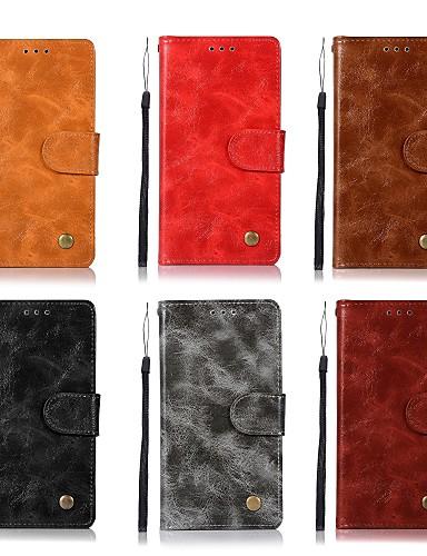 Θήκη Za Samsung Galaxy J8 (2018) / J7 Prime / J7 (2017) Utor za kartice / Zaokret / Mutno Korice Jednobojni Tvrdo PU koža