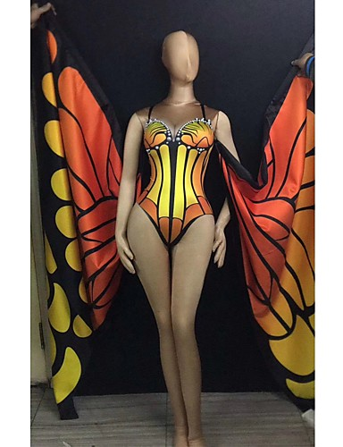 povoljno Egzotična plesna odjeća-Egzotična plesna odjeća Egzotična plesna odjeća / Kombinezoni za izlaske Žene Seksi blagdanski kostimi Spandex Nabori Hula-hopke / Onesie