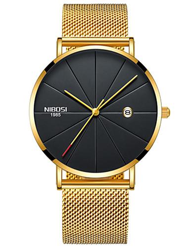 Bărbați Ceas de Mână Japoneză Quartz Oțel inoxidabil Negru / Argint / Auriu 30 m Rezistent la Apă Calendar Cronograf Analog Atârnat Modă - Negru / Argintiu Argintiu / Albastru Negru / Roz auriu Doi