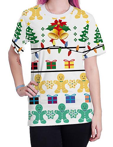 billige Topper til damer-T-skjorte Dame - Tegneserie Gatemote Grønn XL