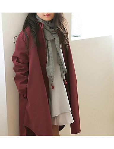 Djeca Djevojčice Osnovni Dnevno Jednobojni Dugih rukava Pamuk Jakna i kaput Lila-roza