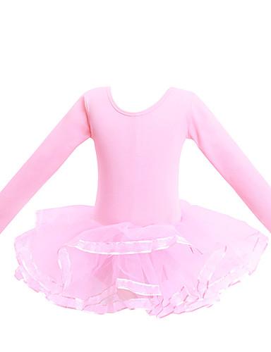 preiswerte Ballettbekleidung-Ballett Turnanzug Damen / Mädchen Training / Leistung Elastan / Lycra Überkreuzte Rüschen / Gestuft Langarm Gymnastikanzug / Einteiler