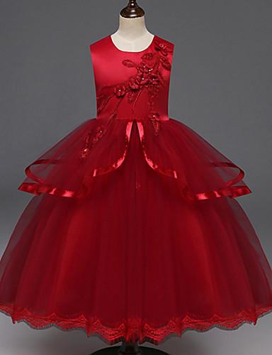 Djeca Djevojčice Osnovni Jednobojni Kolaž Kratkih rukava Haljina Red