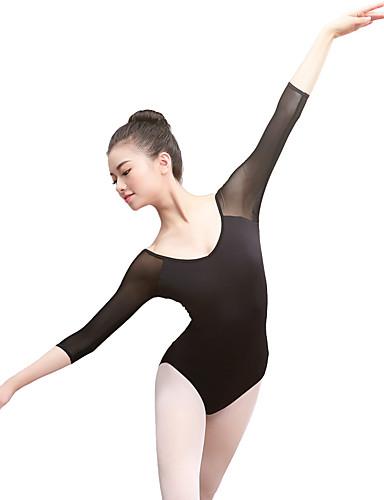 povoljno Odjeća za balet-Balet Leotards Žene Trening / Seksi blagdanski kostimi Elastan / Likra Kombinacija materijala 3/4 rukava Hula-hopke / Onesie