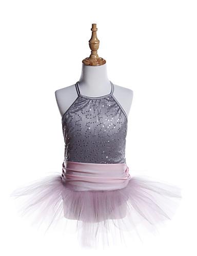 preiswerte Ballettbekleidung-Ballett Kleider Mädchen Training / Leistung Elasthan / Tüll / Pailletten Horizontal gerüscht / Pailetten Ärmellos Kleid