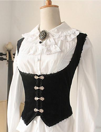 4a29d1ae542 Πριγκίπισσα Στολές Ηρώων Lolita Εμπνευσμένο από Βίντατζ Στολές Γυναικεία  Κορσές N / A Μαύρο Πεπαλαιωμένο Cosplay Αμάνικο Lolita