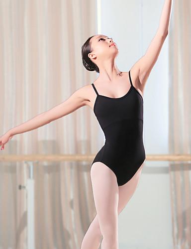 preiswerte Ballettbekleidung-Ballett Turnanzug Damen Training / Leistung Elastan / Lycra Überkreuzte Rüschen Ärmellos Gymnastikanzug / Einteiler