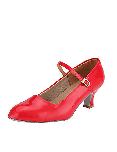 abordables Déstockage Mariages & Soirées-Femme Polyuréthane Chaussures Modernes / Salon Boucle Talon Talon Bobine Non Personnalisables Rouge / Argenté / Doré / EU39
