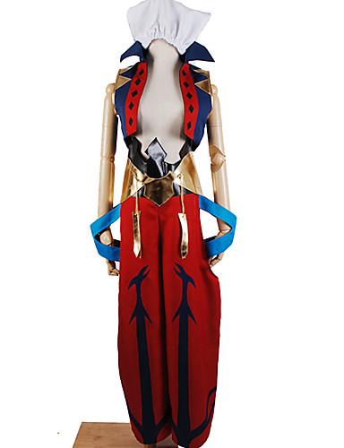 abordables Cosplay & Disfraces-Inspirado por Destino / Grand Order Caster / Gilgamesh Animé Disfraces de cosplay Japonés Trajes Cosplay Art Decó / Patrón / Novedad Guantes / Más Accesorios / Disfraz Para Unisex
