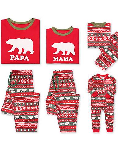 Sguardo Di Famiglia Essenziale Natale - Quotidiano Animali Manica Lunga Poliestere Completo Rosso #07003188 Fabbricazione Abile