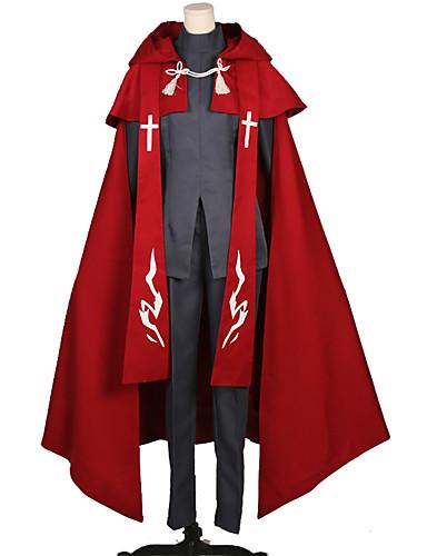 billige Cosplay og kostumer-Inspireret af Skæbnen / Grand Order Amakusa Shiro Tokisada Anime Cosplay Kostumer Japansk Cosplay Kostumer Ensfarvet / Simpel Top / Bukser / Sjal Til Unisex