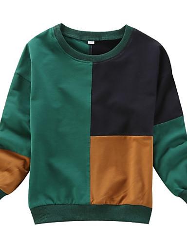 Djeca Djevojčice Ulični šik Dnevno Color block Dugih rukava Regularna Džemper i kardigan Djetelina