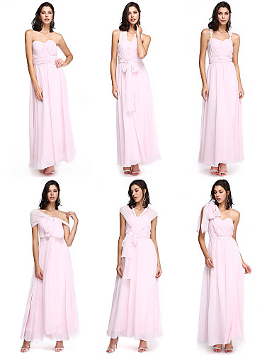 2ba2e244537 A-Line Sweetheart Neckline Ankle Length Chiffon Bridesmaid Dress with Criss  Cross by LAN TING BRIDE®   Convertible Dress