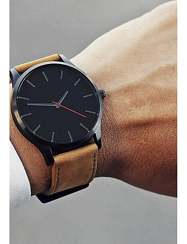 36aad1e58 cheap Leather band Watches-Men's Dress Watch Wrist Watch Quartz Leather