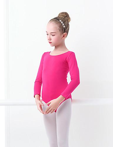preiswerte Ballettbekleidung-Ballett Turnanzug Mädchen Training / Leistung Elastan / Lycra Schleife(n) Langarm Gymnastikanzug / Einteiler