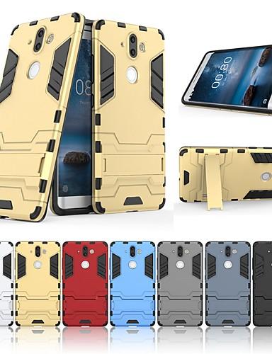 ケース 用途 Nokia Nokia 9 耐衝撃 / スタンド付き バックカバー ソリッド / 鎧 ハード PC