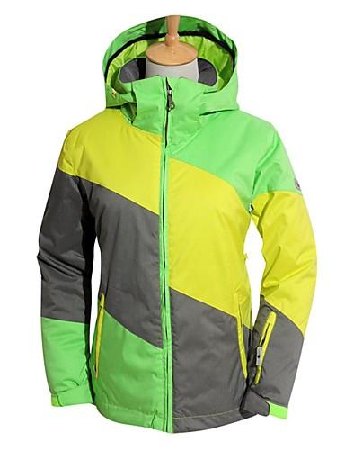 저렴한 스키 & 스노보드-BEIQIU 여성용 스키 자켓 방수 방풍 웜 스키 캠핑 & 하이킹 겨울 스포츠 POLY 윈드브레이커(바람막이) 웜 탑 탑스 스키 의류