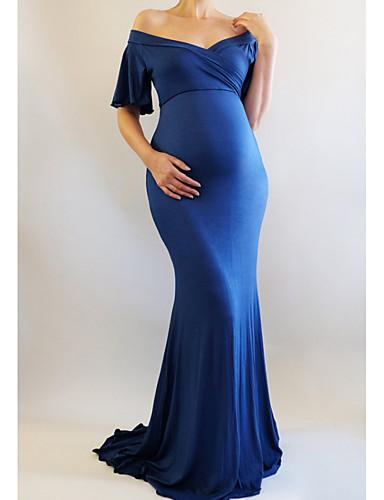 Žene Elegantno Korice Haljina Jednobojni Maxi