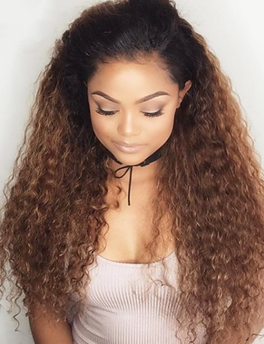 povoljno Perike s ljudskom kosom-Remy kosa Full Lace Lace Front Perika Asimetrična frizura Rihanna stil Brazilska kosa Duboko Val Loose Curl Natural Kestenjast Perika 150% 180% Gustoća kose Nježno Žene Jednostavan dressing Sexy Lady