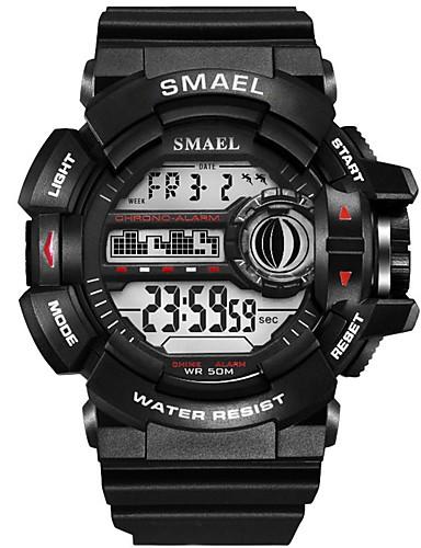 Pánské Sportovní hodinky Digitální hodinky Digitální Pryž Černá   Orange    Khaki Voděodolné Odolný vůči nárazu Svítící Digitální Na běžné nošení Módní  ... fc035bf9f10