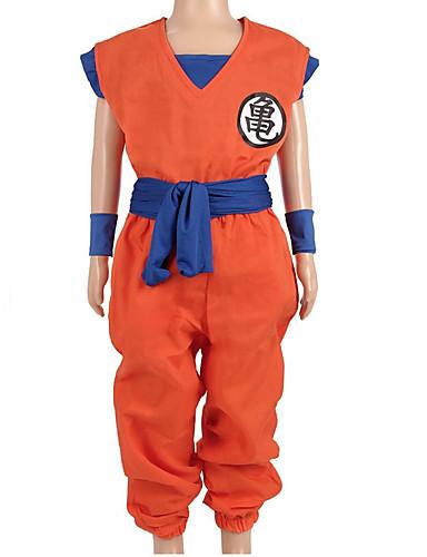 povoljno Anime kostimi-Inspirirana Dragon Ball Son Goku Anime Cosplay nošnje Japanski Cosplay Suits Slovo Others / Top / Hlače Za Dječaci / Djevojčice